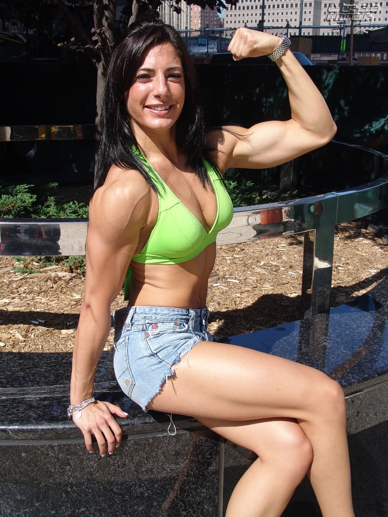 Female bodybuilders, fitness and muscular women.