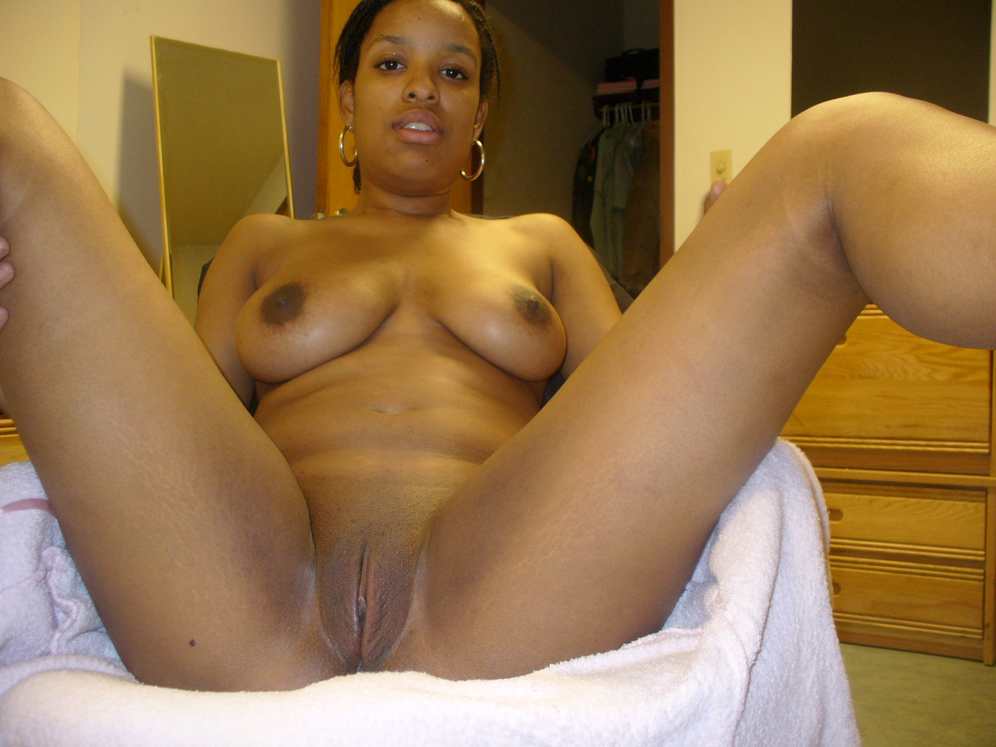 Bare titted African girla