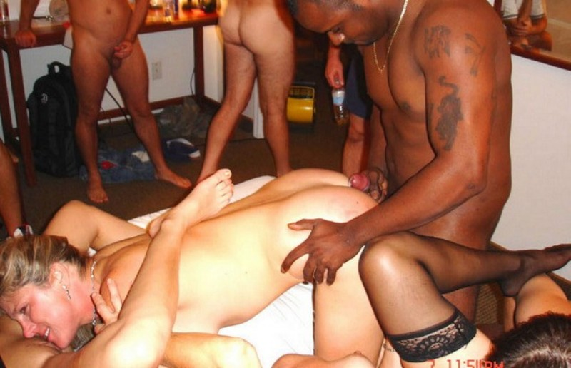 black men gangbang white women