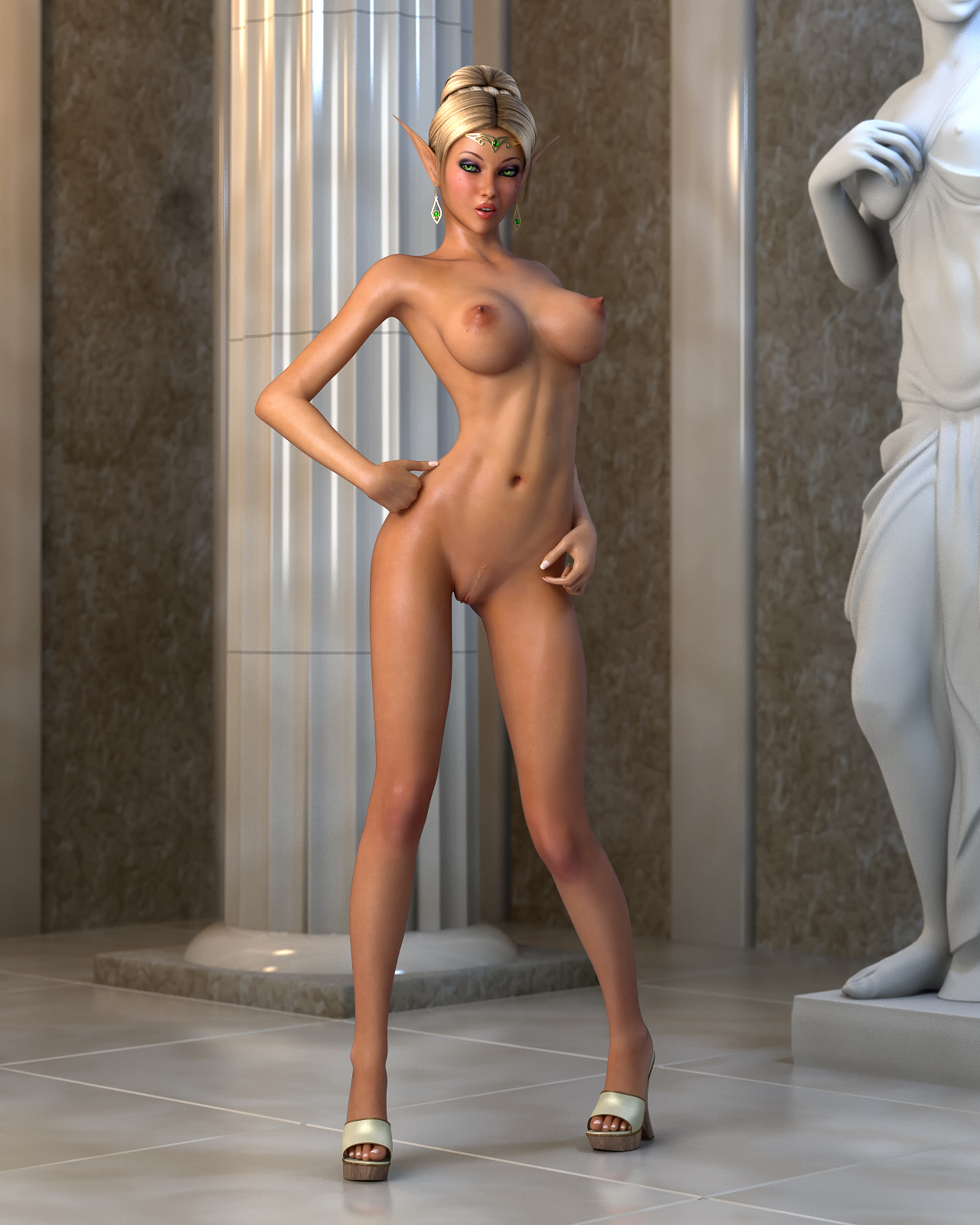 Nude elf 3d nackt uncensored boobs